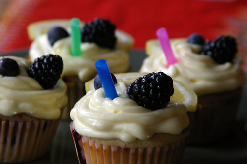 Berry Lemonade Cupcakes