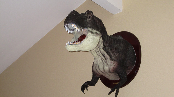 """""""The t-rex has been clocked at 35 miles an hour.""""  """"Say again?"""" """"We have a t-rex!"""""""