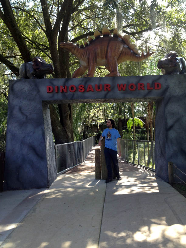 I believe that Dinosaur World is the only place where a boy like me can be happy.