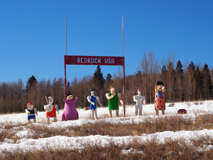 Spotted On The Roadside: Bedrock USA and Bigfoot