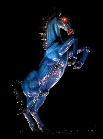 Spotted on the Roadside: Blucifer, the Murderous Mustang From Hell