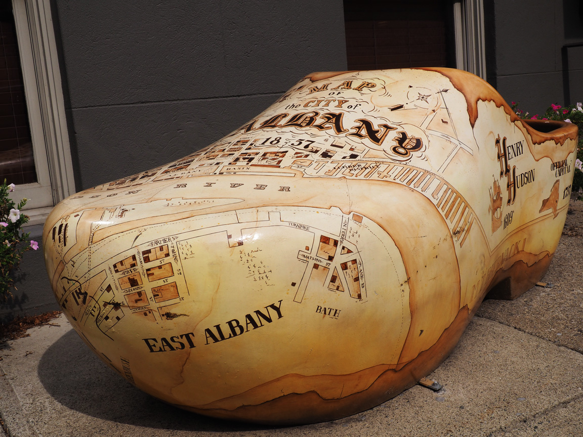 Spotted on the Roadside: A Colossal Clog in Albany, NY