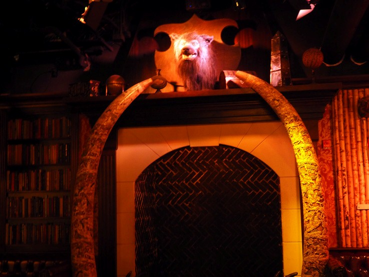 fireplace werewolf mount