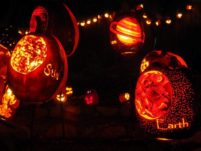 solar system pumpkins