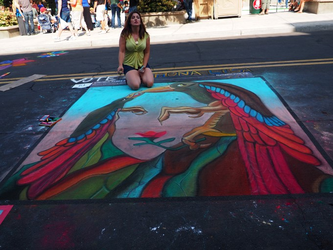 mona lisa chalk