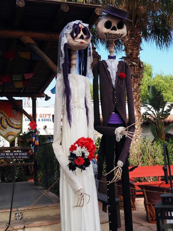skeletal bride and groom