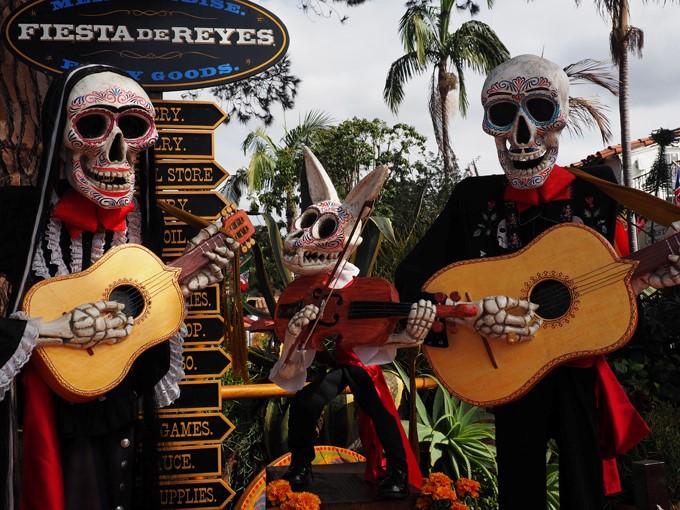 skeletal musicians