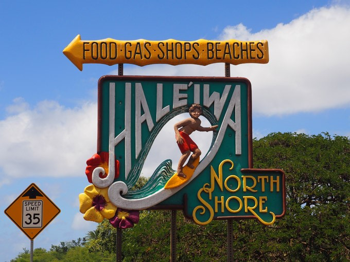 haleiwa north shore sign