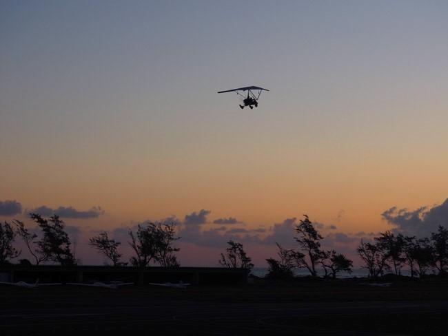 powered hang glider sunrise