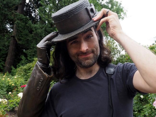 a jaunty bronze hat