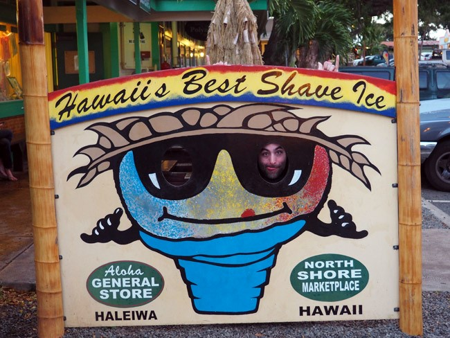 shave ice sign