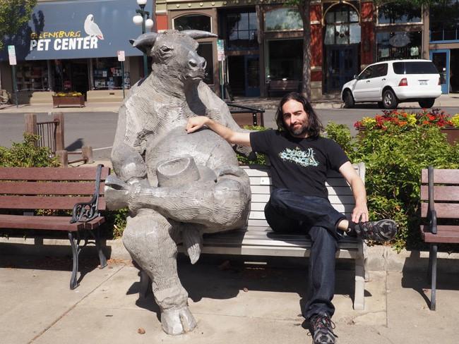 bull statue ellensburg