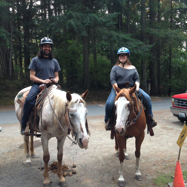 horseback riding on orcas