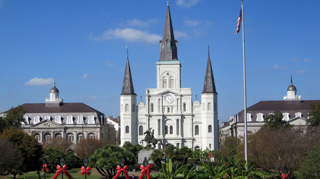 view of jackson square from artillery park