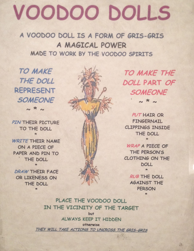 voodoo doll instructions