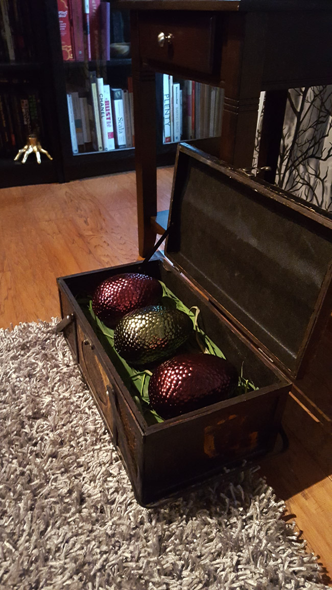 finished dragon eggs