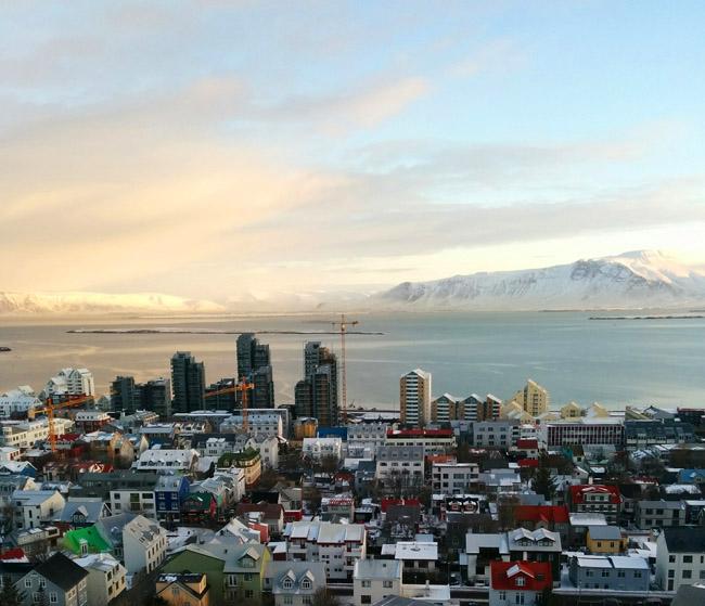 reykjavik harbor sunrise